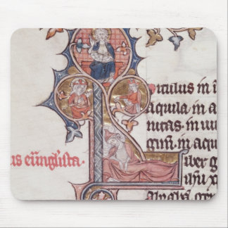 Historiated initial 'L' depicting Tree of Mouse Pad