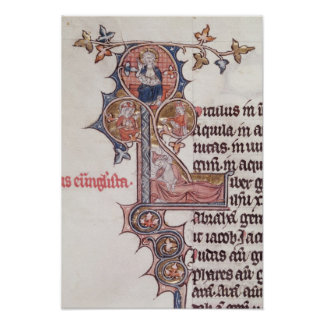 Historiated initial 'L' depicting Tree of Poster