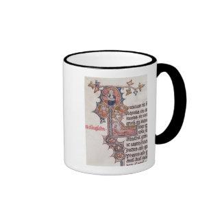 Historiated initial 'L' depicting Tree of Ringer Mug