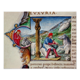 Historiated initial 'L' Poster