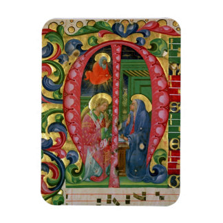 Historiated initial 'M' depicting The Annunciation Magnet