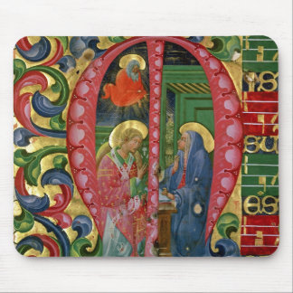Historiated initial 'M' depicting The Annunciation Mouse Pad