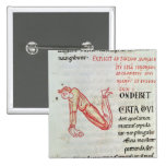Historiated initial 'N' Pinback Button