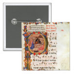 Historiated initial 'P' depicting the Nativity 2 Inch Square Button