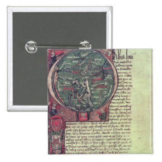 Historiated initial pinback button
