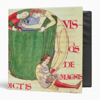 Historiated initial 'Q' depicting drapers Vinyl Binders
