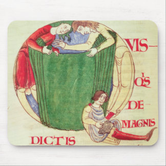 Historiated initial 'Q' depicting drapers Mouse Pad