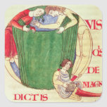Historiated initial 'Q' depicting drapers Square Sticker