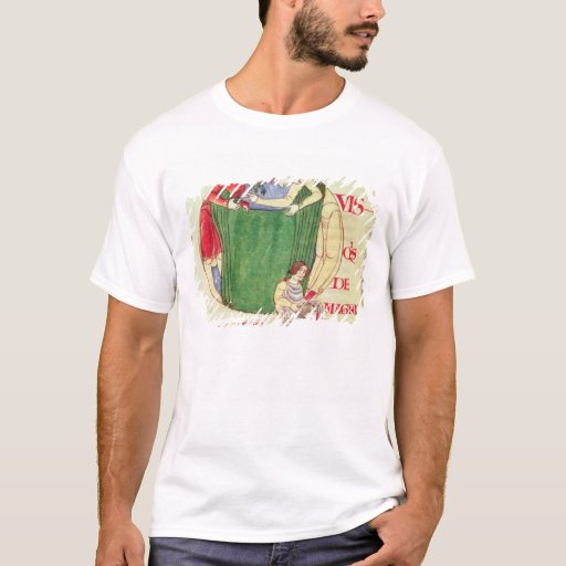 Historiated initial 'Q' depicting drapers T-Shirt