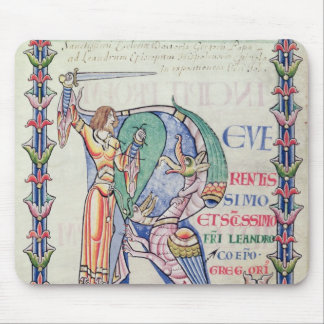 Historiated initial 'R' Mouse Pad