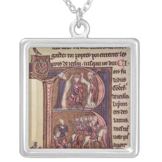 Historiated initial 'R' Silver Plated Necklace