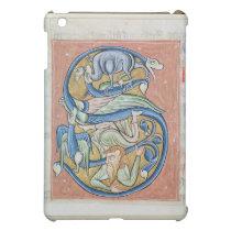 Historiated initial 'S' depicting an acrobat iPad Mini Cover
