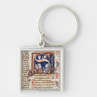 Historiated initial 'S' depicting Pope Gregory Keychain