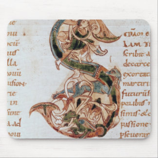 Historiated initial 'S' Mouse Pad