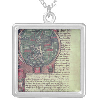Historiated initial silver plated necklace