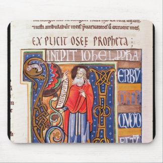 Historiated initial 'U' depicting Joel Mouse Pad