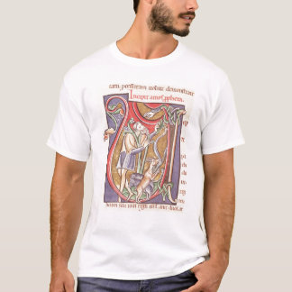 Historiated initial 'V' depicting Amos T-Shirt