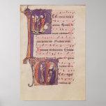 Historiated initials 'P' Poster