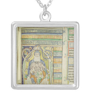 Historiated letter 'A' depicting generations Silver Plated Necklace