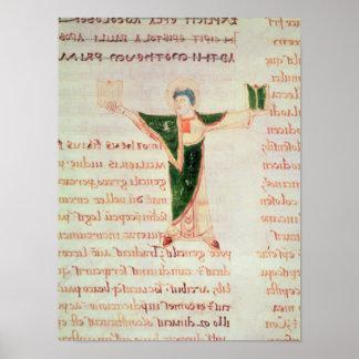Historiated letter 'T' Poster