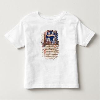 """Historiated rubrica """"S"""" que representa a papa Camisas"""