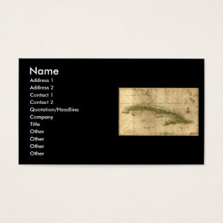 Historic 1639 Map of Cuba by Joan Vinckeboons Business Card