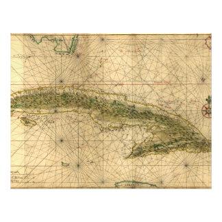 Historic 1639 Map of Cuba by Joan Vinckeboons Flyer