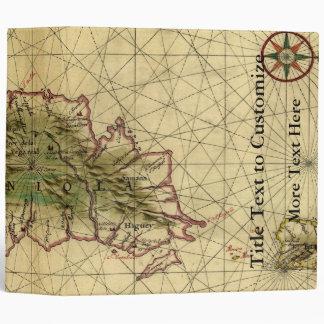 Historic 1639 Map of Hispaniola - Joan Vinckeboons Binder