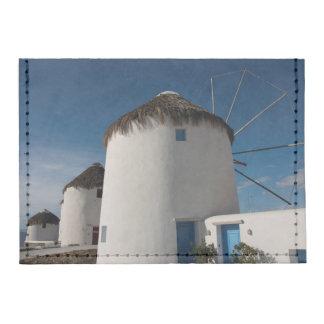 Historic 16th century Cycladic style windmills Tyvek® Card Case Wallet