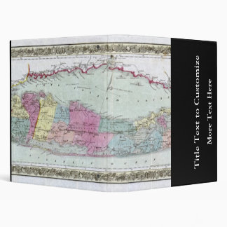 Historic 1855-1857 Travellers Map of Long Island 3 Ring Binder