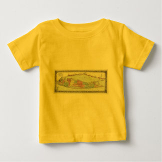 Historic 1855-1857 Travellers Map of Long Island Baby T-Shirt