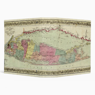 Historic 1855-1857 Travellers Map of Long Island Binder