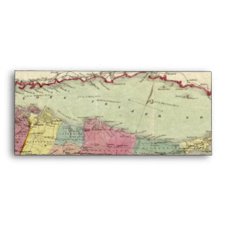 Historic 1855-1857 Travellers Map of Long Island Envelope