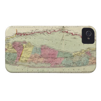 Historic 1855-1857 Travellers Map of Long Island iPhone 4 Cover