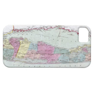 Historic 1855-1857 Travellers Map of Long Island iPhone 5 Cover