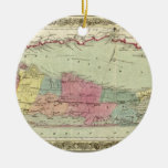 Historic 1855-1857 Travellers Map of Long Island Ornaments