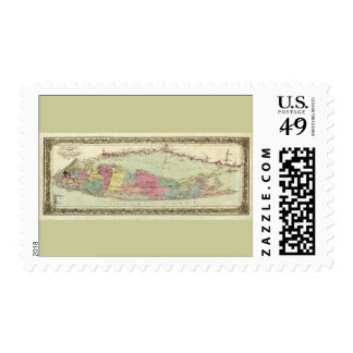 Historic 1855-1857 Travellers Map of Long Island Postage