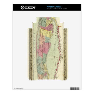 Historic 1855-1857 Travellers Map of Long Island Decals For Kindle