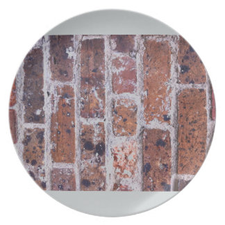 Historic 18th Century red brick wall Dinner Plate