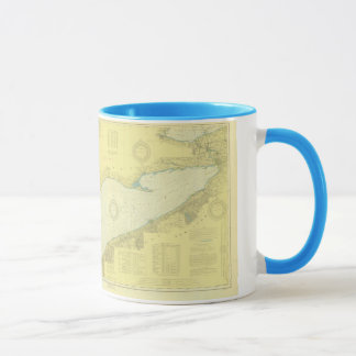 "Historic 1918 Nautical Lake Erie ""3"" chart Mug"