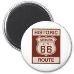 Historic Arizona RT 66 2 Inch Round Magnet