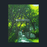 """Historic ASIJ Gate Canvas Print<br><div class=""""desc"""">A canvas print of a painting of our historic ASIJ Gate by renown Vietnamese painter Le Thanh Son. The original currently hands in the Head of School&#39;s office.</div>"""
