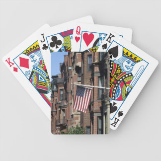 Historic back Bay Area, Boston, Massachusetts Bicycle Playing Cards