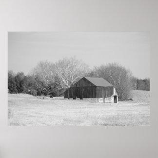 Historic barn at Antietam Poster