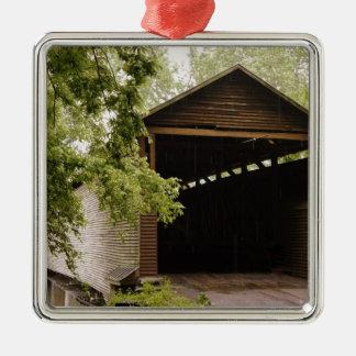 Historic Bridge Square Metal Christmas Ornament