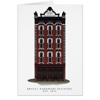 Historic Briggs Hardware Building Notecards Card
