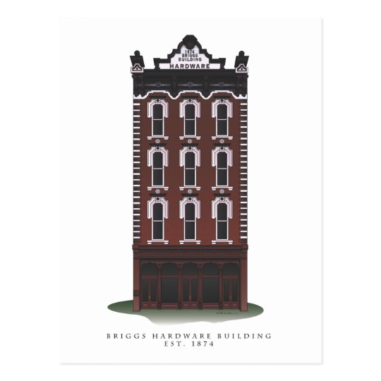Historic Briggs Hardware Building Postcards