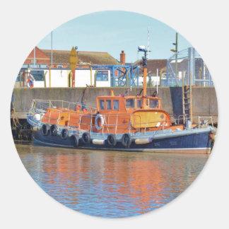Historic British Lifeboat Classic Round Sticker