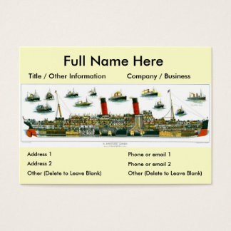 Historic British Ocean Liner Bookmark Business Card