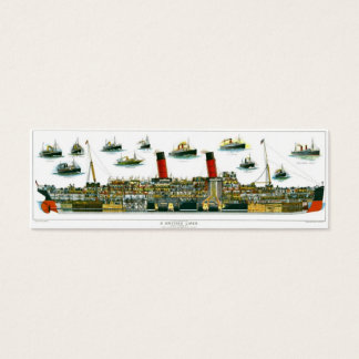 Historic British Ocean Liner Bookmark Mini Business Card